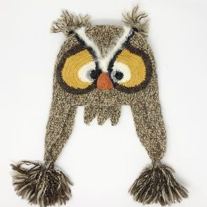 ANTHROPOLOGIE Peruvian Trading Company Owl Hat